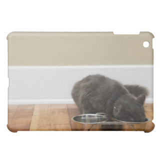 Cat eating from bowl iPad mini cover