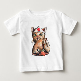 cat eating sushi baby T-Shirt