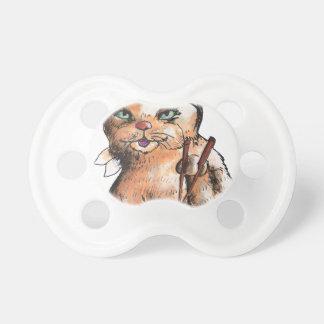 cat eating sushi pacifier