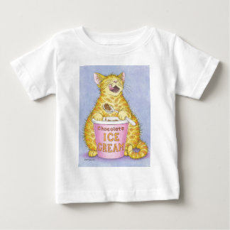 CAT eats ice cream Baby T-Shirt