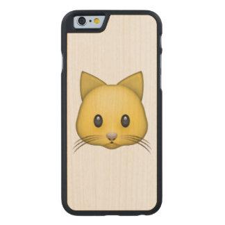 Cat - Emoji Carved Maple iPhone 6 Case