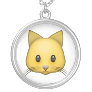 Cat - Emoji Silver Plated Necklace