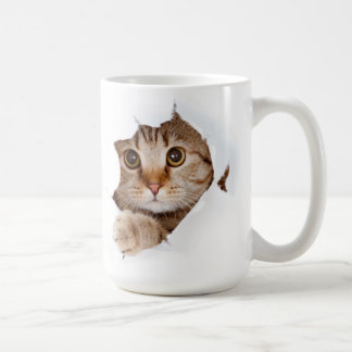 cat escaping! coffee mug