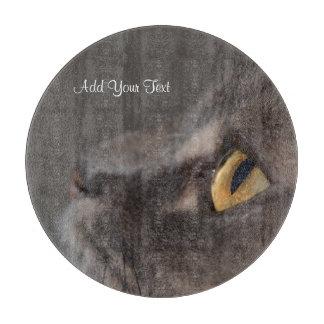Cat Eye-Macro by Shirley Taylor Cutting Board