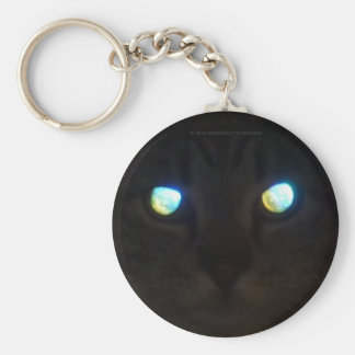 Cat Eyes, Glow Deep.   Priceless! Basic Round Button Keychain