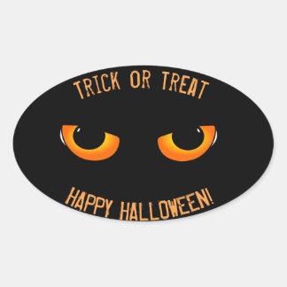 Cat Eyes Happy Halloween Trick or Treat Sticker