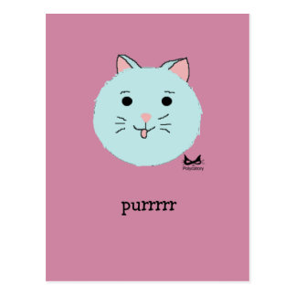 Cat Face: Attack of the Cuteness Postcard