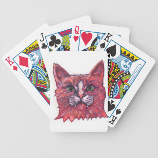 Cat Face Bicycle Playing Cards