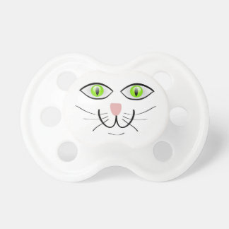 CAT Face Big Green Eyes Design Pacifier