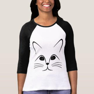Cat Face Cartoon T-Shirt