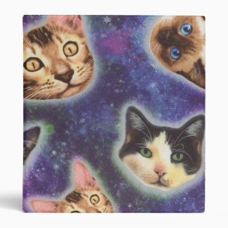 cat face - cat - funny cats - cat space 3 ring binders