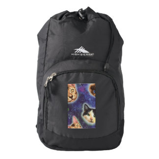 cat face - cat - funny cats - cat space backpack