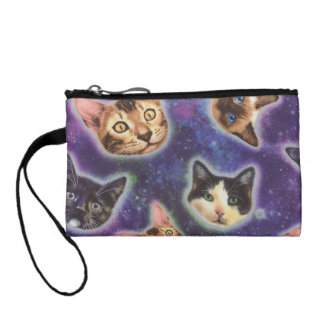 cat face - cat - funny cats - cat space coin purse