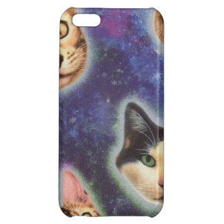 cat face - cat - funny cats - cat space iPhone 5C covers