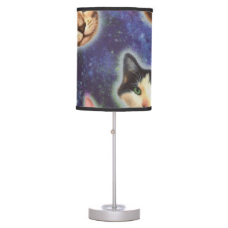 cat face - cat - funny cats - cat space table lamp