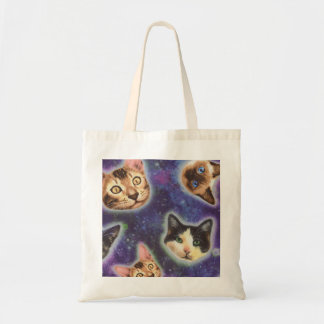 cat face - cat - funny cats - cat space tote bag
