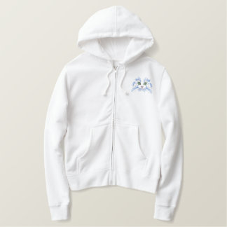 Cat Face Embroidered Hoodie