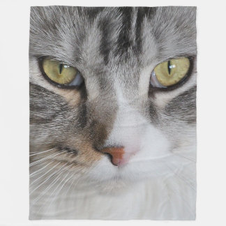 Cat Face Fleece Blanket