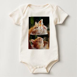 Cat Face Goldfish Glass Close View Eyes Portrait Baby Bodysuit