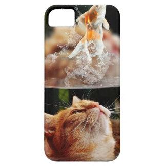 Cat Face Goldfish Glass Close View Eyes Portrait iPhone 5 Case