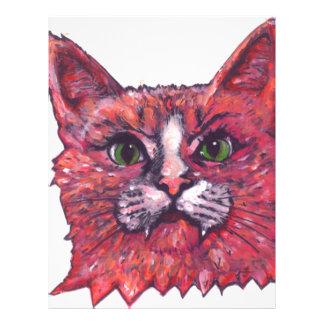 Cat Face Letterhead Design
