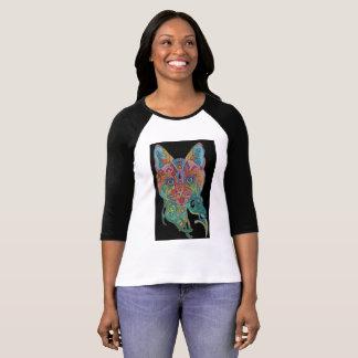 cat face multi color T-Shirt