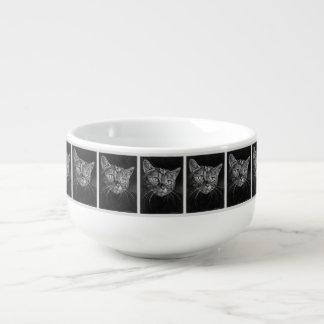 Cat Face My 50 Year Old Drawing!!! Soup Mug