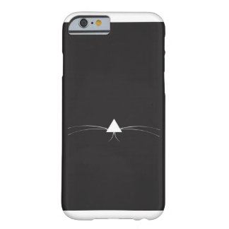 Cat face negative space phone case