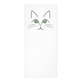 Cat face rack card
