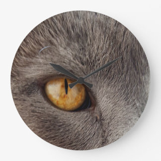 Cat Face Round Wall Clock