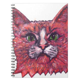 Cat Face Spiral Notebooks