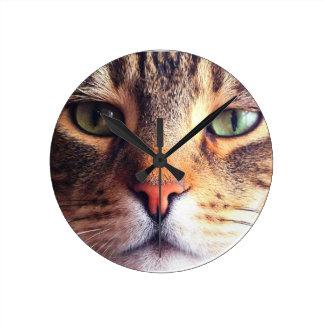 Cat Face Wall Clocks