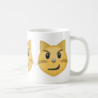 Cat Face With Wry Smile Emoji Coffee Mug