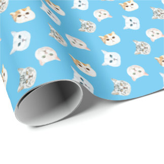 Cat Faces Gift Wrapping Paper