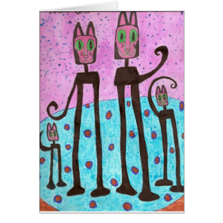 Cat Family - drawing done by simo Autism Card