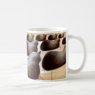 cat field in perspective basic white mug