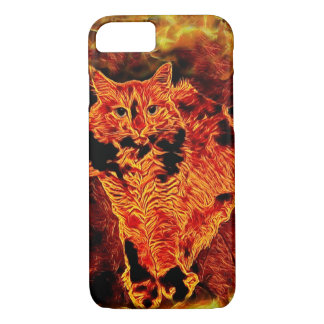 Cat Fire Flame Red Orange Fantasy iPhone Case