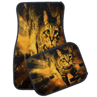 Cat Fire Of The Crossing Oblivion Car Mat
