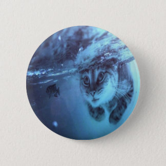 Cat fish 2 inch round button