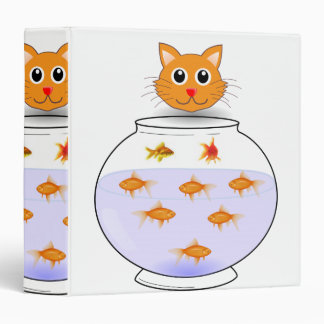 Cat fish children's school binder