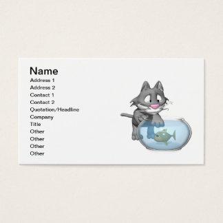 Cat Fishing Business Card