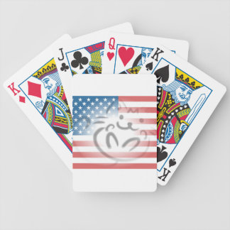 cat flag bicycle playing cards