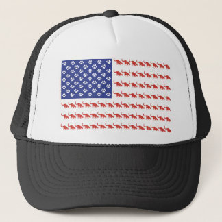 Cat-Flag-Tee Trucker Hat