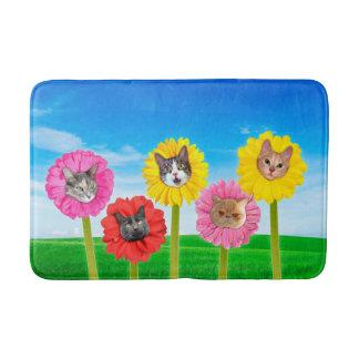 """""""Cat Flower"""" Garden LOL Funny Bath Mat"""