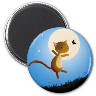 cat follow your dreams - magnet