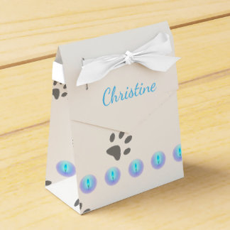 Cat Footprints Favor Box
