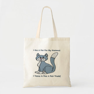 Cat For My Husband Tote Bag