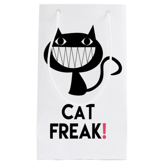 Cat Freak! Fun Gift Bag - Small, Glossy
