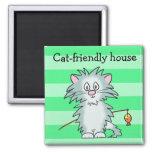 Cat-friendly house magnet
