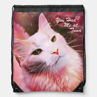 Cat Funny Humor Valentine Heart Love Pink Backpack